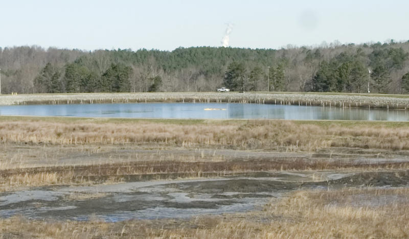 Coal ash ponds at Riverbend Steam Station in Mount Holly.