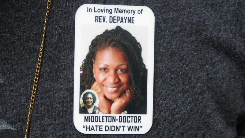 memorial pin for Rev. DePayne Middleton-Doctor