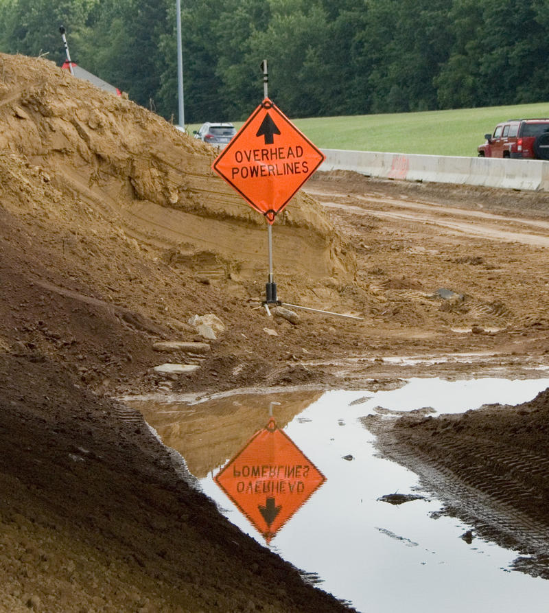 I-77 toll lane construction near Exit 23 in Huntersville.