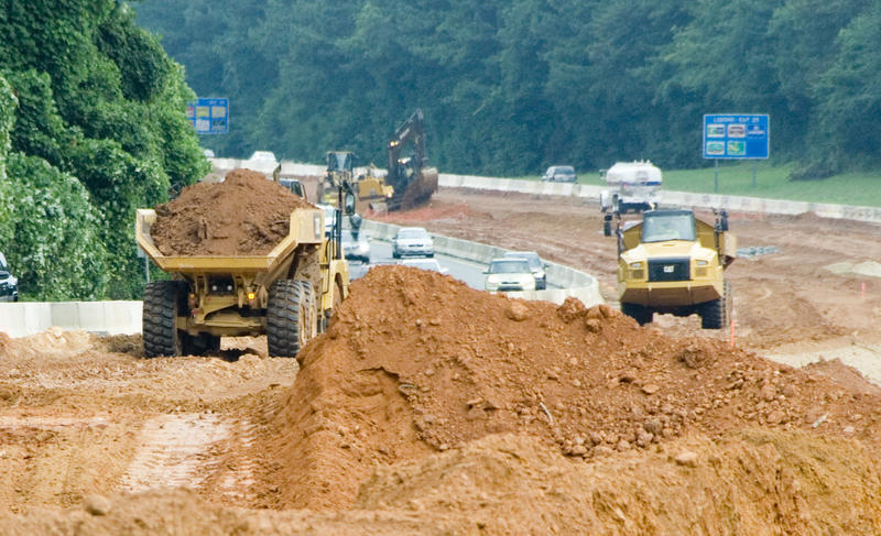 Exit 23 on I-77 toll lane construction