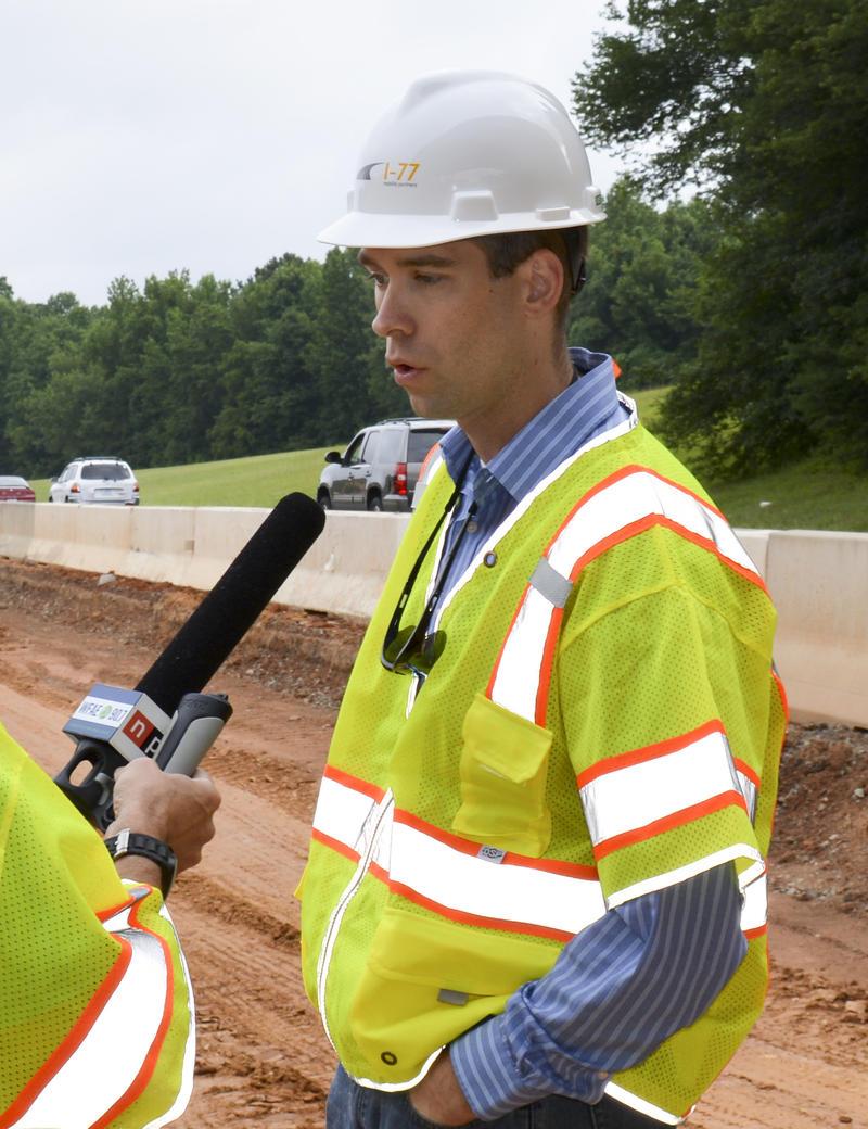 David Hannon is overseeing construction as chief infrastructure officer of I-77 Mobility Partners.