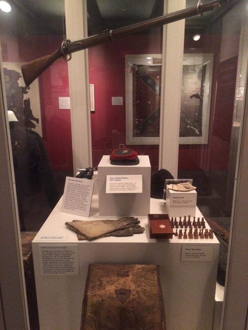 One of the displays at the Relic Room and Military Museum.