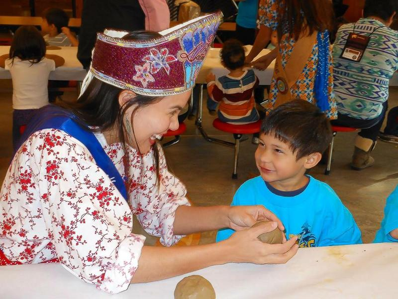 Kristina Hyatt, a Cherokee resident and the reigning Miss Native American USA, visits an Indian reservation to talk to children about dental health care