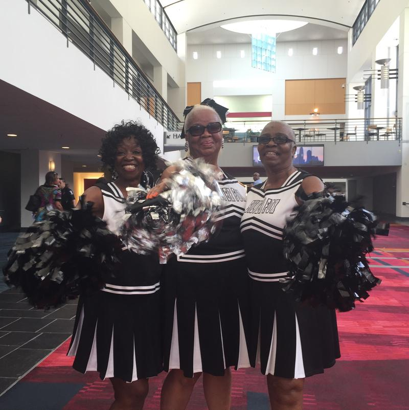 The Silver Foxes cheered at Hillary Clinton's campaign event at the Charlotte convention center.