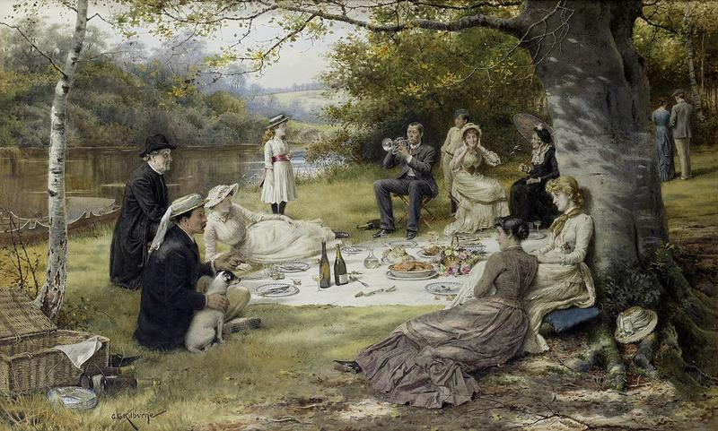 The Picnic by George Goodwin Kilburne