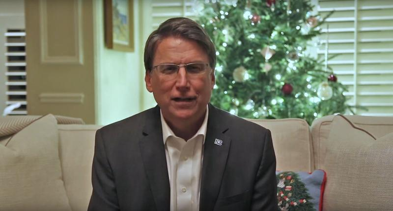 Governor Pat McCrory concedes to challenger Roy Cooper in a video released by the governor's office.