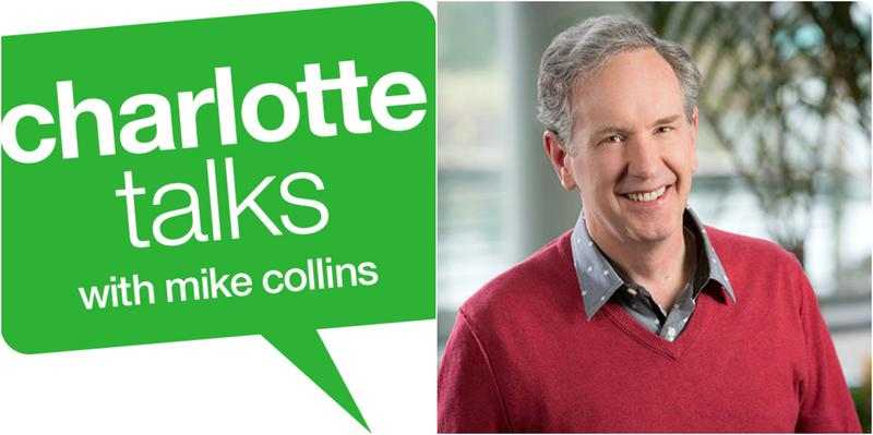 The Charlotte Talks logo and Mike Collins