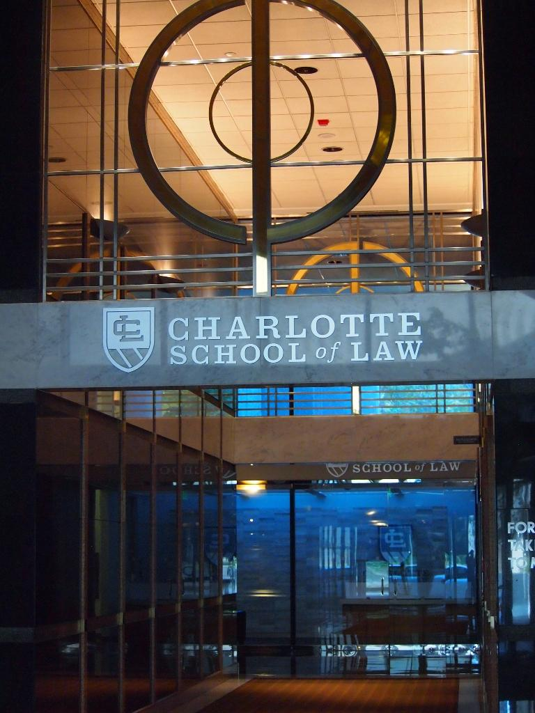 Charlotte School of Law is in the Charlotte Plaza Building at 201 S. College St.