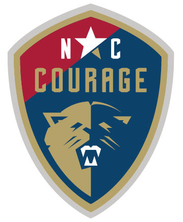The logo of the new NC Courage professional women's soccer team includes a lion.