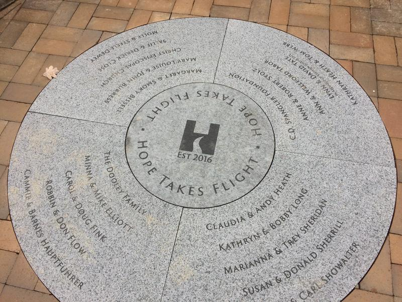 stone marker at entrance of HopeWay
