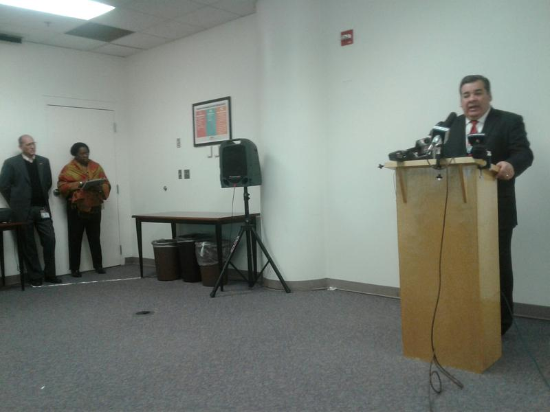 Clayton Wilcox, CMS' next superintendent, holds first press conference