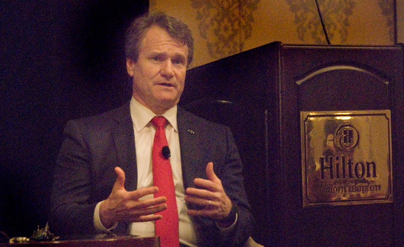 Bank of America CEO Brian Moynihan spoke at a Charlotte World Affairs Council lunch Wednesday at the Hilton.