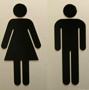 unisex bathroom sign