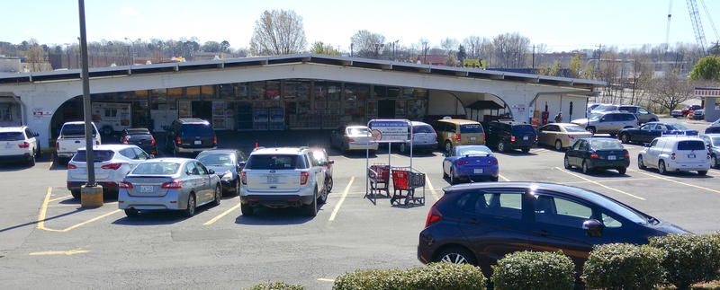 The parking lot at Compare Foods on North Tryon Street in Charlotte has been emptier on weekdays in recent weeks.