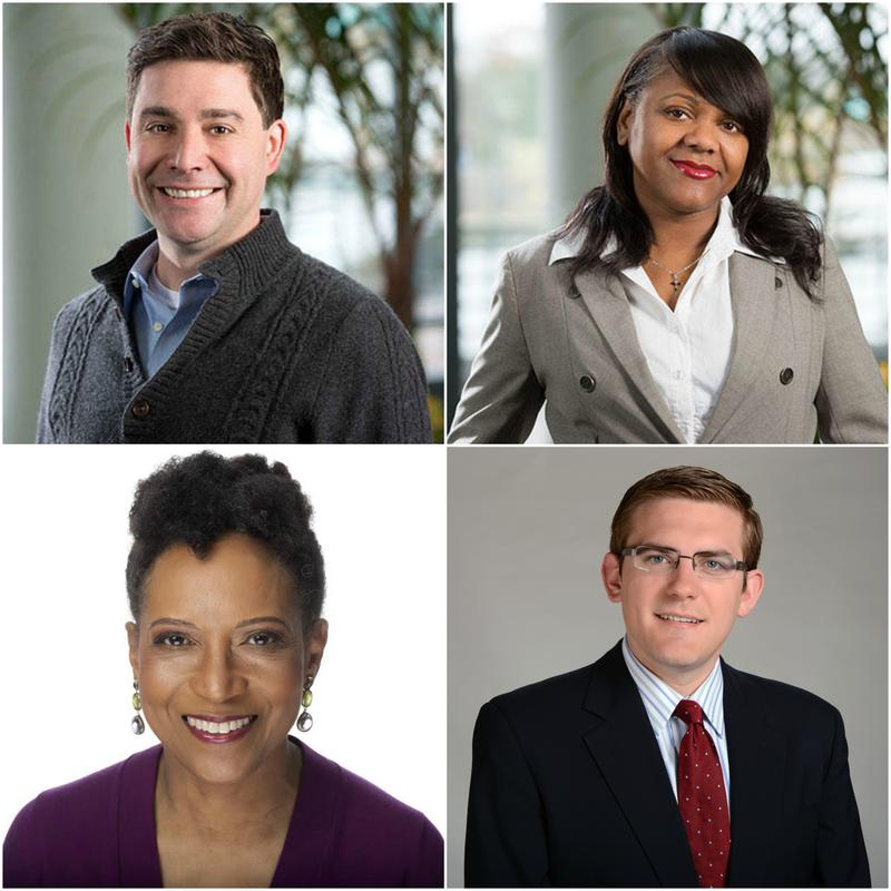 Clockwise from top left, Tom Bullock, Gwendolyn Glenn, Nick Ochsner and Mary Curtis.