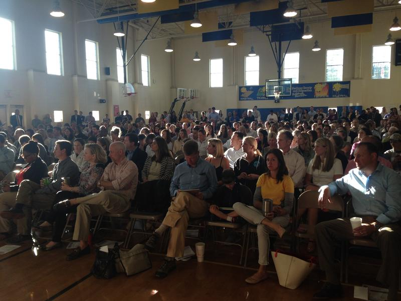 About 350 people attended the meeting at Dilworth Elmentary Wednesday morning.