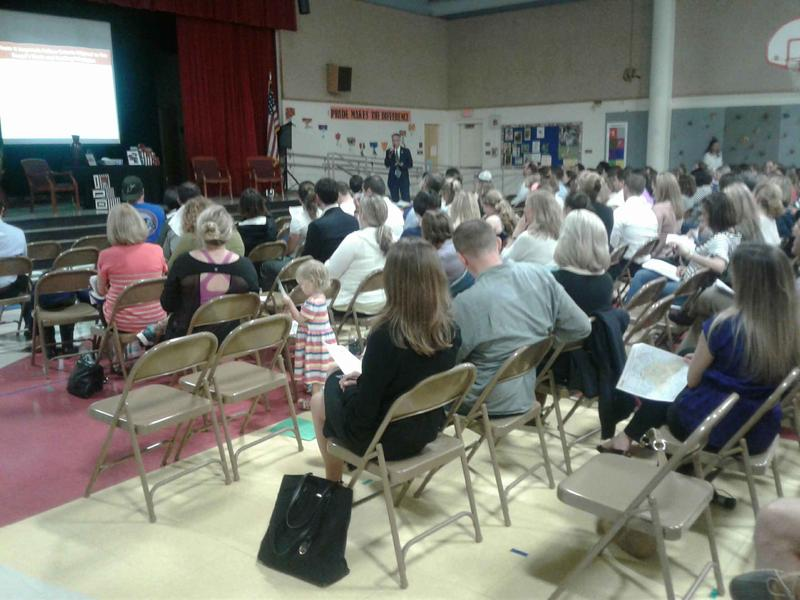 About 250 attended the meeting at Sedgefield Elementary Monday night.