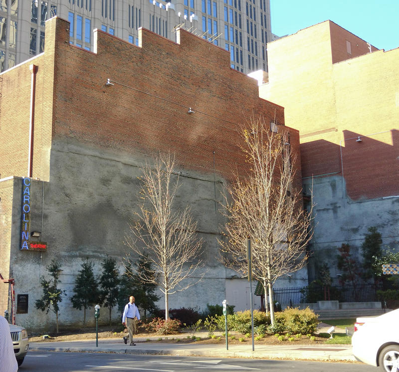 The streetcorner park at North Tryon and Sixth streets uptown will be removed starting next week, as the Foundation for the Carolinas begins restoring the 1927 Carolina Theatre.