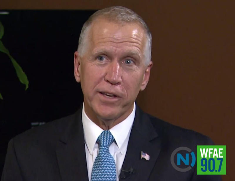 U.S. Sen. Thom Tillis spoke with WFAE this week about health care, immigration and the climate in Washington.