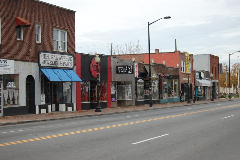 Central Avenue in the Plaza Midwood business district.
