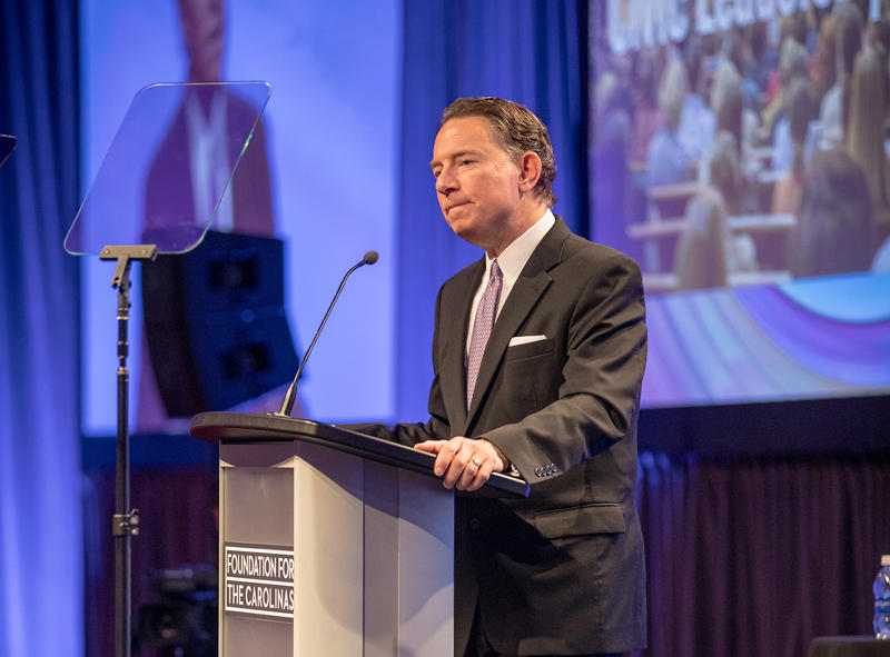 CEO Michael Marsicano spoke at the Foundation for the Carolinas annual meeting in March.