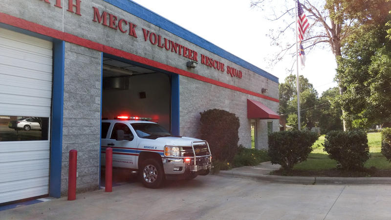 An ambulance leaves North Meck Rescue on one its final calls. The squad closes its doors Friday, June 30.