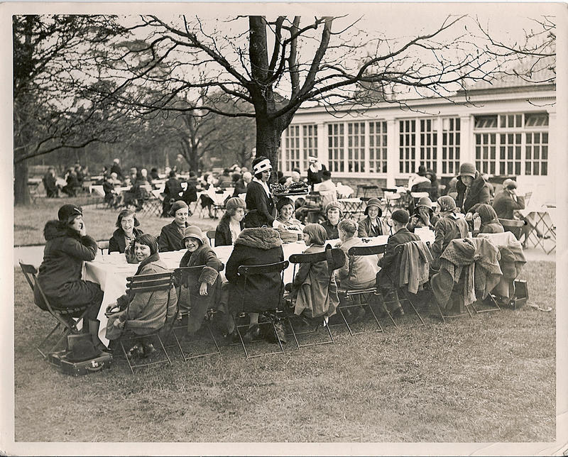 """Sunshine Teas in Kew Gardens,"" c. 1920"
