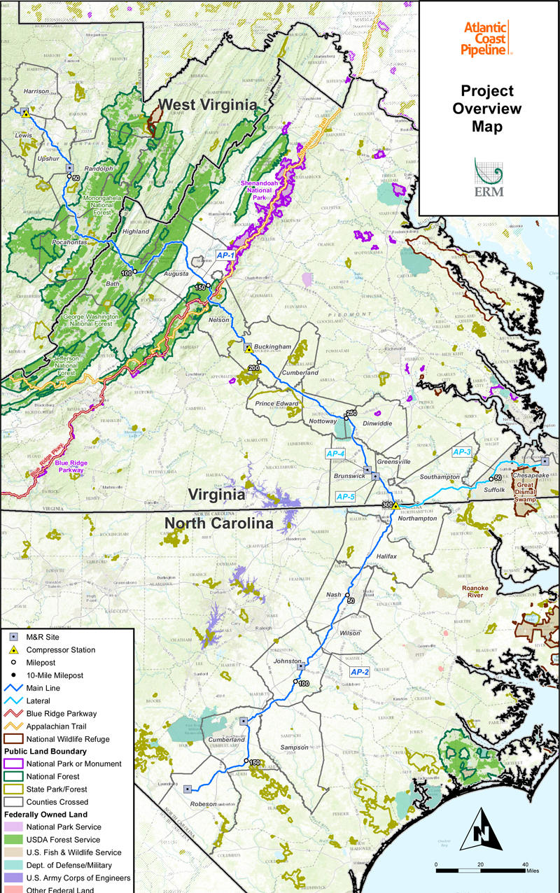 US Regulatory Panel Approves Atlantic Coast Mountain Valley - Pipelines in us map