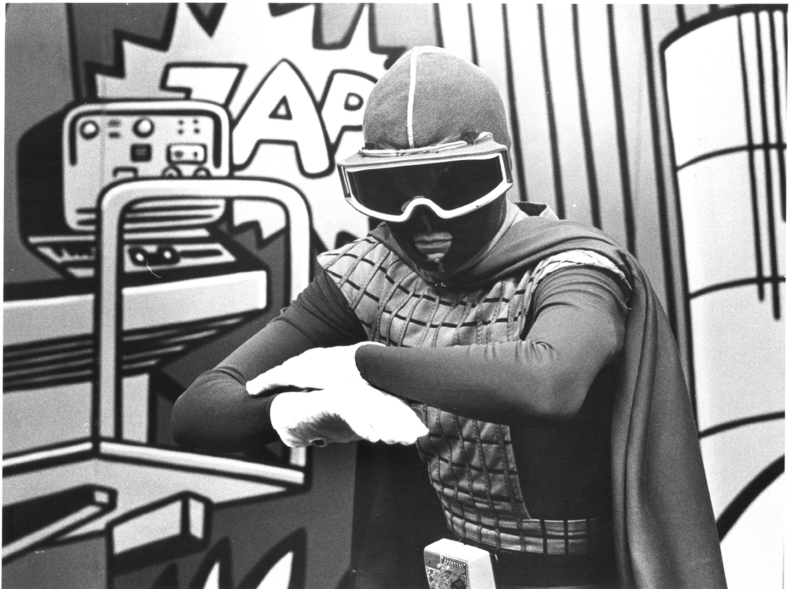 Sonic Man, the peace-loving superhero from Utor, was a television favorite in the late 1970s on WCCB. Now, nearly 40 years after his debut, UNCC has acquired a collection of old Sonic Man footage and memorabilia.