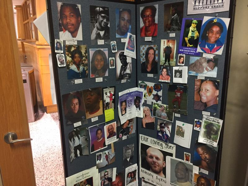 Reminders of past homicide victims.