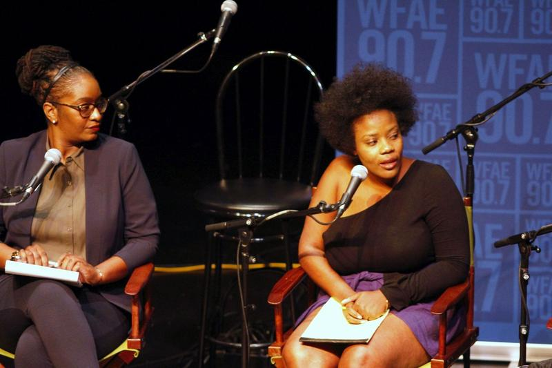 Brenda Tindal (left), Staff historian, Levine Museum of the New South and Ash Williams (right), community organizer with Charlotte Uprising on activism and turning anger into action after last year's unrest.
