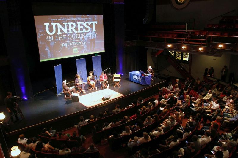 The program was broadcast live before a packed audience at Spirit Square's McGlohon Theater.