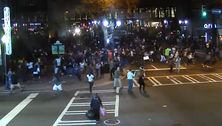 Screen shot of video from where Justin Carr was shot on Sept. 21, 2016. The Charlotte Observer petitioned for this and other videos from protests that followed the shooting of Keith Scott.
