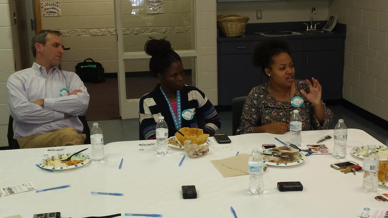 'On the Table' participants (L-R) Tobe Holmes, Kenya Dixon, and Lyndsey Dunston.