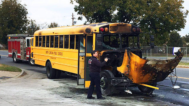 Bus 188 was the second CMS bus to spontaneously catch fire.