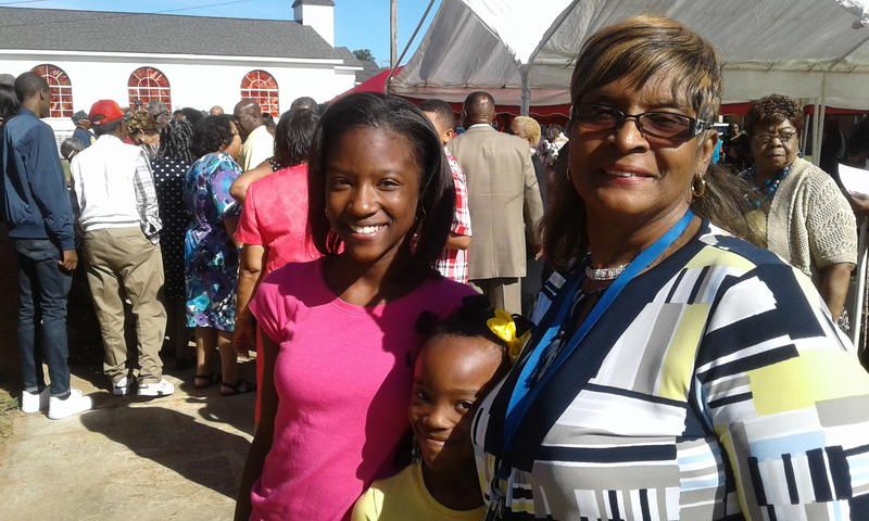 Debra Richmond, Class of 1969, came to the reunion with her granddaughters to show them her former high school