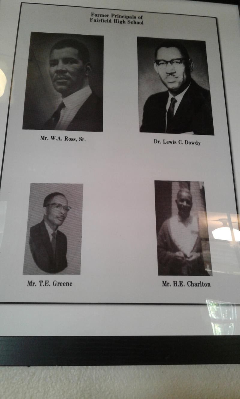 Former principals of Fairfield High School. Dr. Lewis C. Dowdy went on to become president of NC A&T State University in Greensboro, NC.