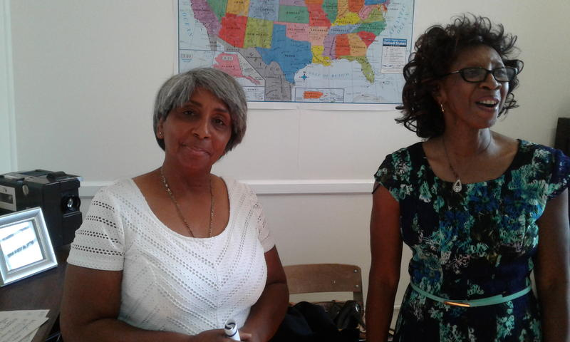 Daisy Woodward (l) and Agretha Irby took math and English classes at Fairfield when they were in the eighth grade