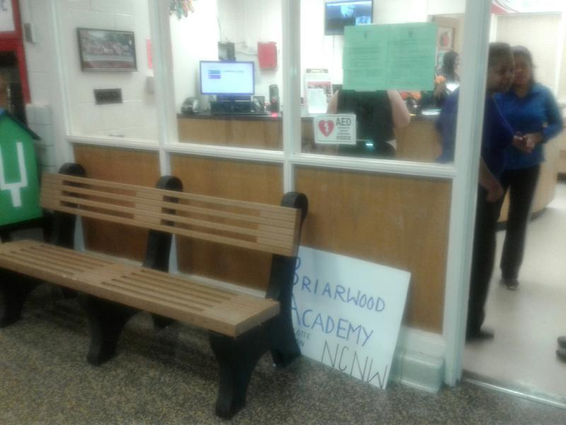 Briarwood's office is so small that visitors who arrive before they can can be seen, have to wait outside on a bench