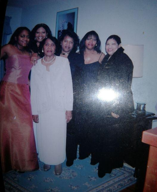 WFAE's Gwendolyn Glenn (far left), along with her mother and sisters dress up for a Fairfield High School reunion banquet.