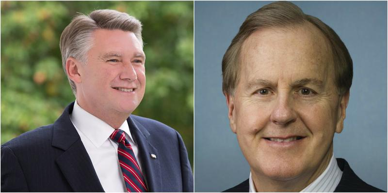 In the GOP primary in May for the 9th Congressional District, Mark Harris (left) won almost all of the absentee by mail ballots cast in Bladen County.
