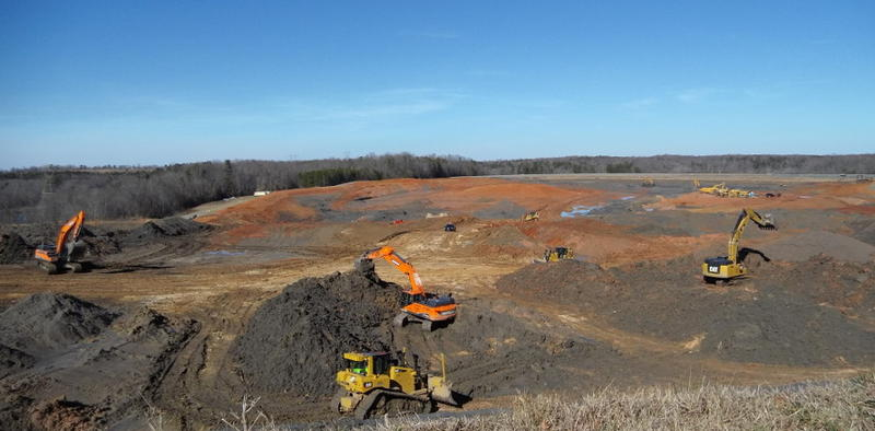 An army of excavators has been working 7 days a week at Riverbend to remove coal ash.