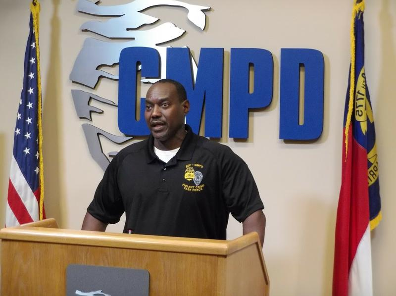 ATF Special Agent Wayne Dixie speaks at CMPD headquarters to announce Tuesday's arrests.