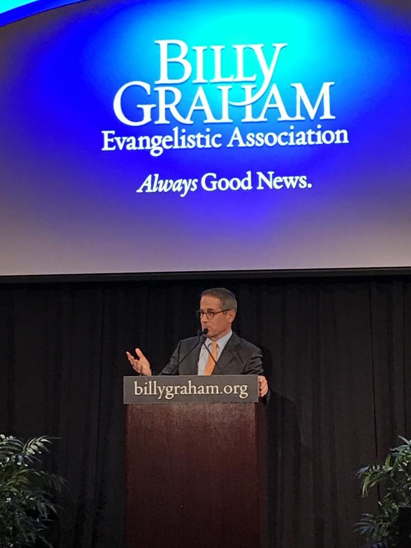 Billy Graham Evangelical Association spokesman Mark DeMoss details plans for Graham's funeral at the Billy Graham Library.