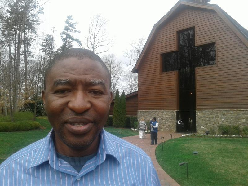 A visitor from Sierra Leone at the Billy Graham Library.