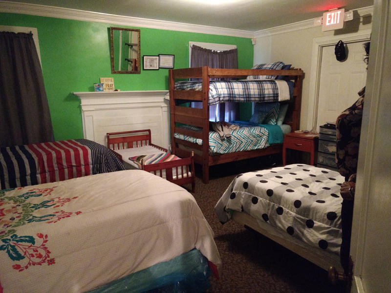 One of the bedrooms at Gracious Hands. The transitional home houses up to 5 women and their children at a time.