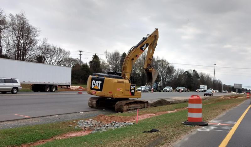 Construction on I-77 in north Mecklenburg.