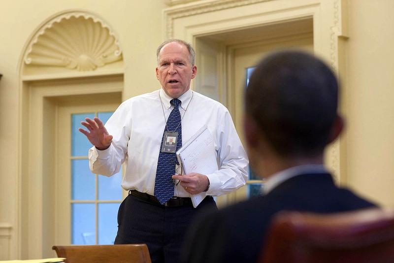 John Brennan, then Assistant to the President for Homeland Security and Counterterrorism, in the Oval Office, May 3, 2010.