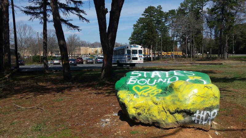 Spirit rock at Independence High School