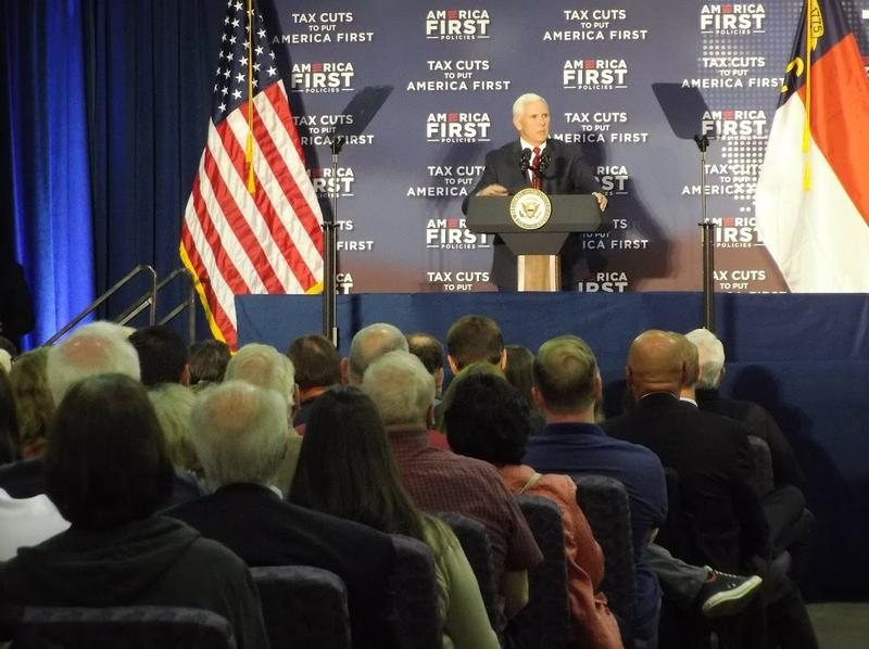 Vice President Mike Pence spoke in Charlotte Friday.